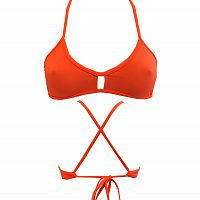 BIKINIS - Orange Knotty Top