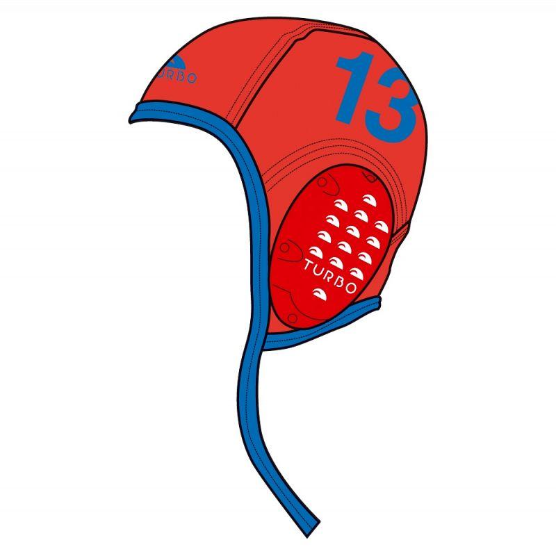 Gorro de waterpolo Professional Classic Gorro Rojo Con Numero 8efb4e696f0a